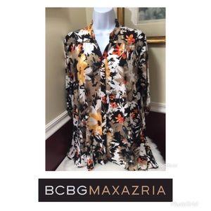 NWT BCGBMaxAzria Women's Sz M Blouse Floral